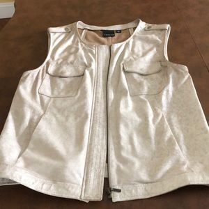 Women's real leather vest!